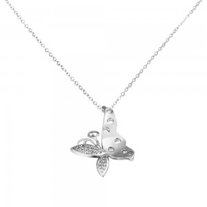 Alisha 18K White Gold Necklace