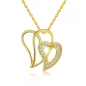 Alodia 18k Gold Plated Heart Necklace