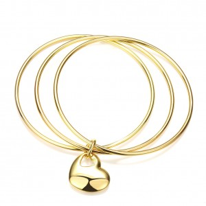 Alyssa 18K Gold Plated 3-Piece Bangle