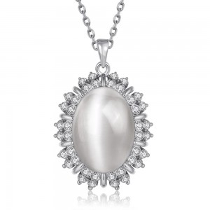 Amaris White Gold Plated Necklace