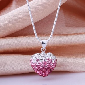 Shamballa Anastasia 925 Silver Plated Heart Necklace