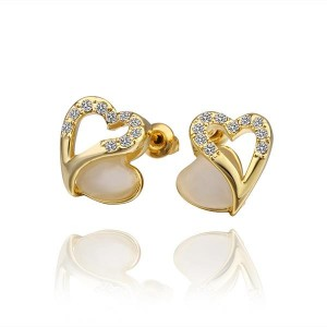 Anika 18K Gold Plated Heart Earrings