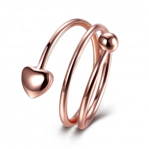 Aramina 18k Rose Gold Plated Spiral Ring