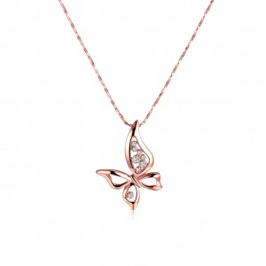 Ariana Rose Gold Plated Buttefly Necklace
