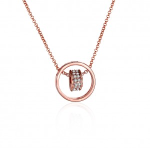 Arya 18K Rose Gold Plated Necklace