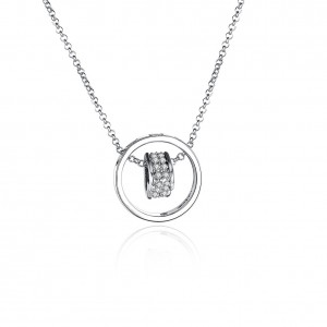 Arya White Gold Plated Necklace