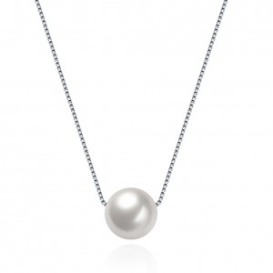 Aviola Pearl White Gold Plated Necklace
