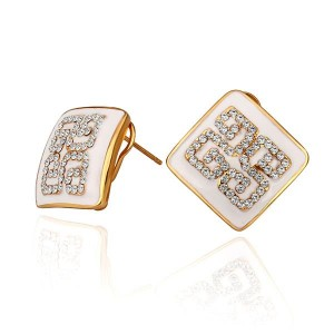 Blaire White 18K Gold Plated Earrings
