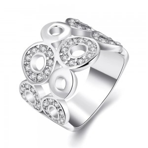 Bria Platinum Plated Ring