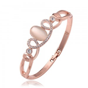Carly Rose Gold Plated Bangle