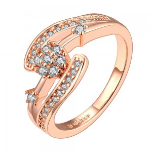Carmen Diamond 18K Rose Gold Plated Ring