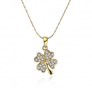 Charmaine Gold Clover Necklace