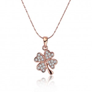Charmaine 4 Leaf Clover 18K Rose Gold Plated Necklace