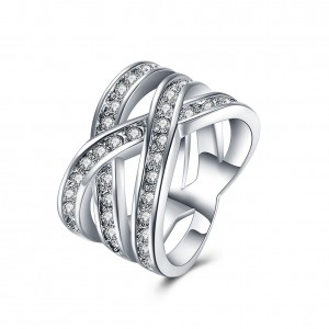 Danica Ring White Gold Plated