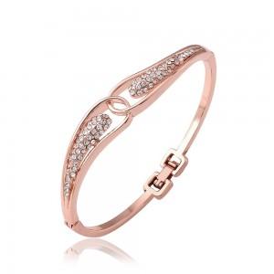 Demi Diamond 18K Rose Gold Plated Bangle