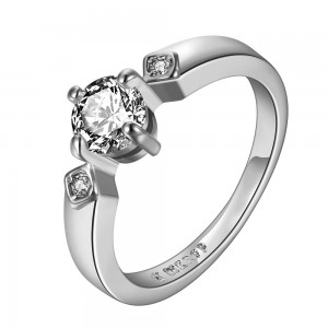 Diana 18K White Gold Engagement Ring