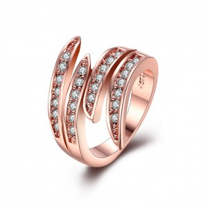 Diorelle Folded Wings Rose Gold Plated Ring