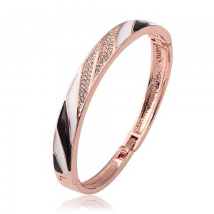 Donalyn 18k Rose Gold Plated Bangle