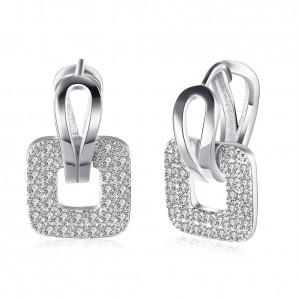Dorothy18K White Gold Plated Earrings