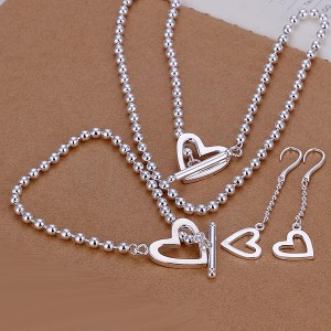 Dorothy Heart 925 Silver Plated Set