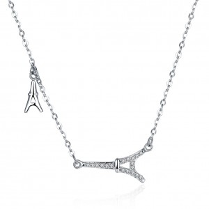 Marseille Eiffel Silver Necklace
