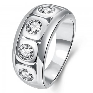 Eldar White Gold Plated Ring