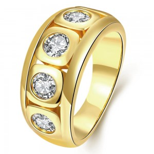 Eldar 18K Gold Plated Ring by Elite