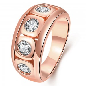 Eldar Rose Gold Plated Ring by Elite