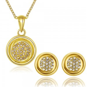 Eleonor 18K Gold Plated Necklace and Earrings Set