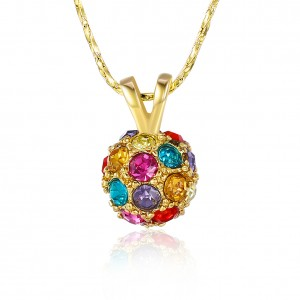 Farah Multi-Colored Stones 18K Gold Plated Necklace