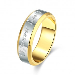 Forever Love Gold Plated Dual Tone Couple Ring