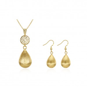 Grace 18k Gold Plated Necklace and Earrings Set