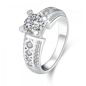 Grizela White Gold Plated Ring