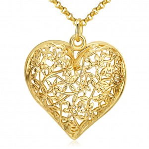 Jadis Heart 18k Gold Plated Necklace