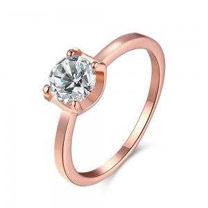 Janet 18k Rose Gold Plated Ring