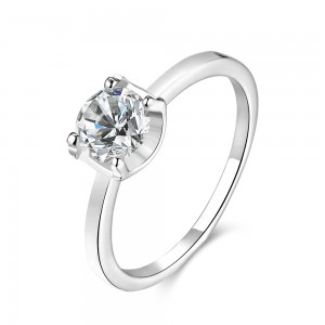 Janet 18k White Gold Plated Ring