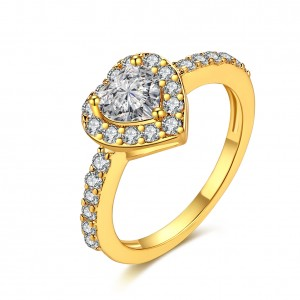 Jenna 18k  Gold Plated Heart Ring