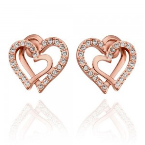 Jessica 18K Rose Gold Plated Earrings
