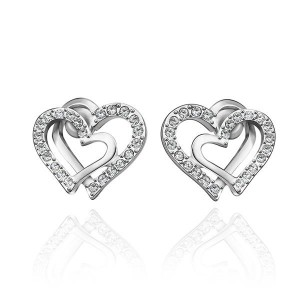 Jessica White Gold Plated Earrings