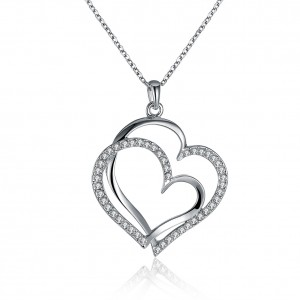 Jessica 18K White Gold Plated Necklace