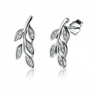 Karina Leaf 925 Sterling Silver  Earrings