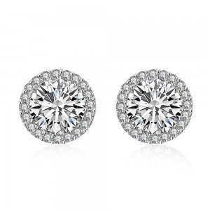 Katarina 18K White Gold Plated Earrings