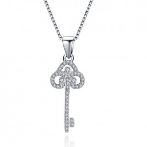 Katrina Key  925 Sterling Silver  Necklace