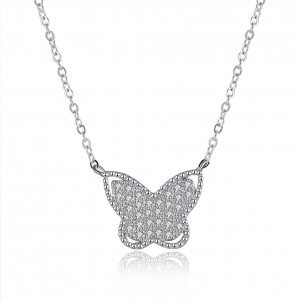 Kimmy Butterfly 925 Sterling Silver Necklace