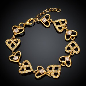 Laverne Chain of Hearts  Bracelet