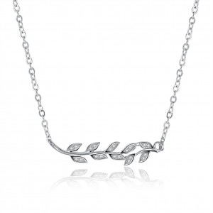 Leafy 925 Sterling Silver Necklace