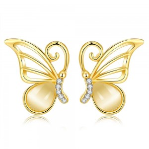 Lorah Wings 18K Gold Plated Earrings