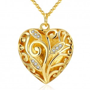 Loren Heart 18k Gold Plated Necklace
