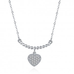 Lucia Heart 925 Sterling Silver Necklace