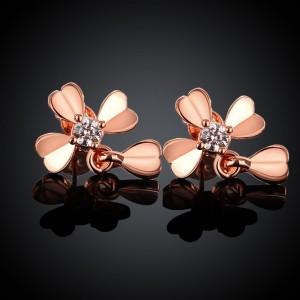 Martha Cross Rose Gold Plated Earrings